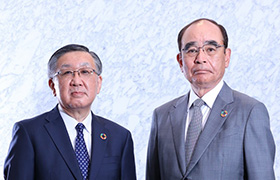 Masayuki Sato (Left) Representative Director Chairman and Chief Executive Officer (CEO), Tadashi Ishizuka (Right) Representative Director President and Chief Operating Officer (COO)